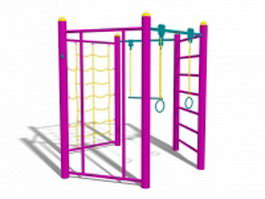 Outdoor workout equipment 3d preview
