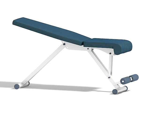 Weight training bench 3d rendering