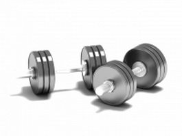 Adjustable dumbbells 3d preview