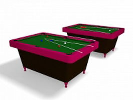 Bar billiards table 3d preview