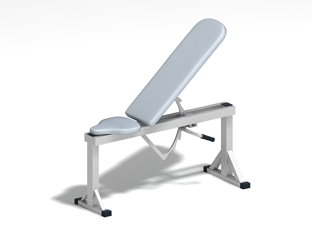 Adjustable weight training bench 3d rendering