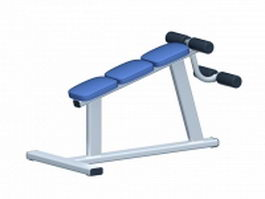 Fitness AB bench 3d preview