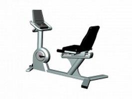 Recumbent exercise bike 3d model preview