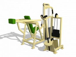 Gym exercise equipment 3d preview