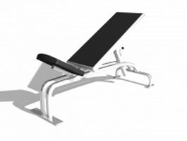 Adjustable Abdominal bench 3d preview