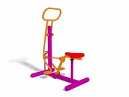 Outdoor fitness trail equipment 3d preview