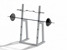 Barbell squat rack 3d preview