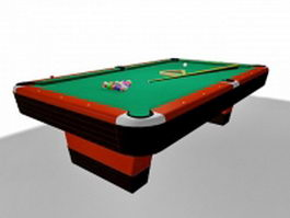 Commercial pool table 3d preview
