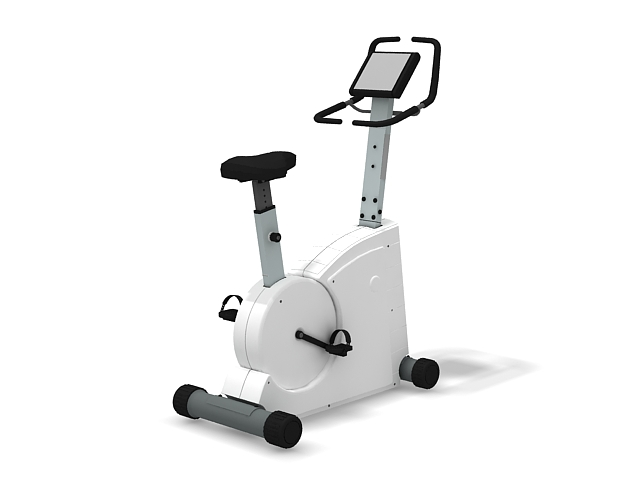 Stationary exercise bike 3d rendering