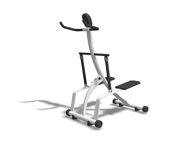 Cardio stepper exercise machine 3d rendering