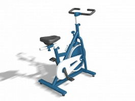 Stationary exercise bike 3d preview