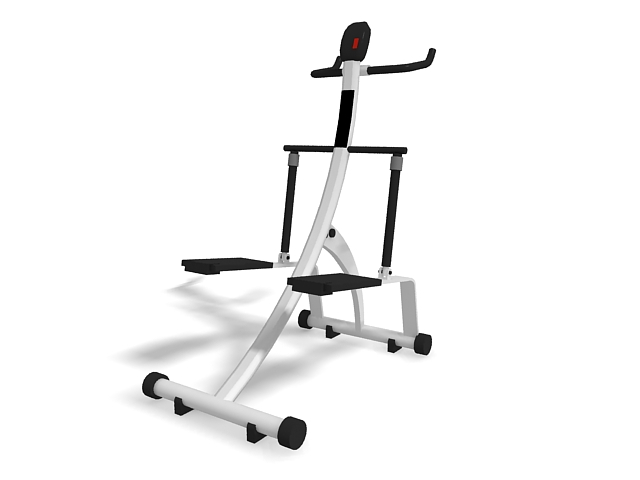 Stair stepper exercise machine 3d rendering