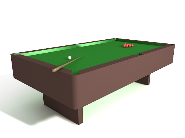 Cue sports equipment 3d rendering