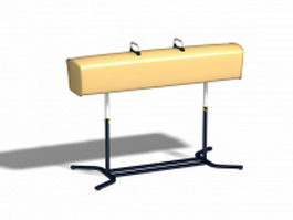 Gymnastics pommel horse 3d preview