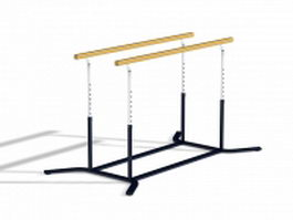 Parallel bars 3d preview