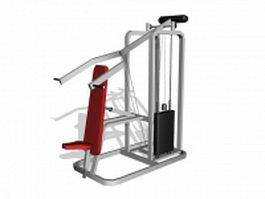 Commercial fitness equipment 3d preview
