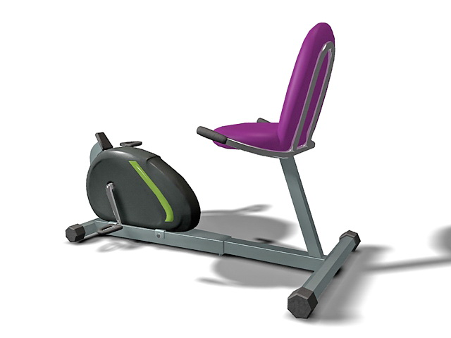 Recumbent elliptical cross trainer 3d rendering
