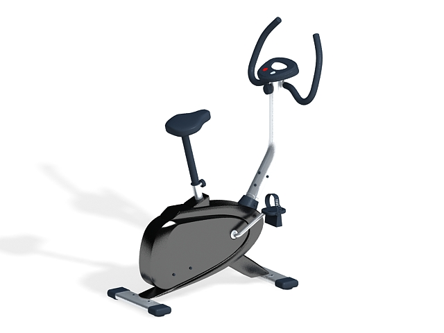 Stationary bicycle 3d rendering