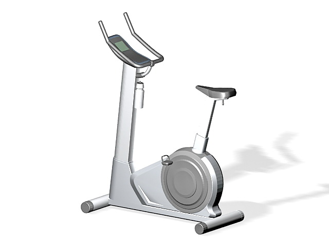 Stationary exercise bike 3d rendering