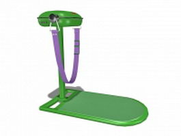 Home fitness equipment 3d preview