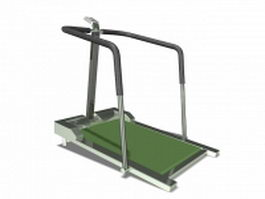 Rehabilitation walking treadmill 3d preview