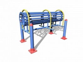 Outdoor fitness exercise equipment 3d preview