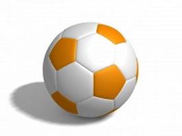 Orange white football 3d model preview