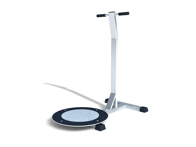 Waist twister exercise equipment 3d rendering