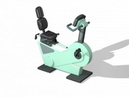 Recumbent exercise bike 3d preview