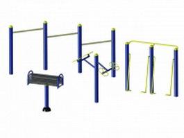 Exercise park equipment 3d preview