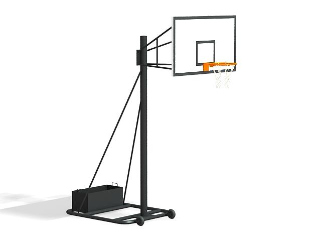 Portable basketball hoop 3d rendering