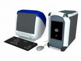 Personal desktop computer 3d preview