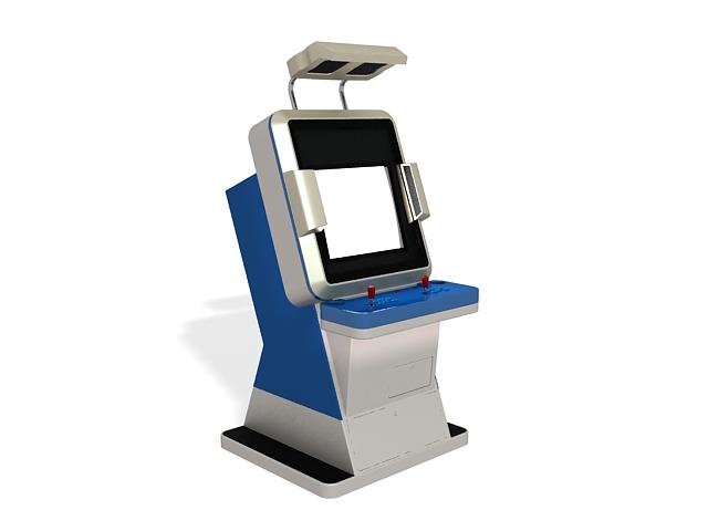 Stand-up arcade machine 3d rendering