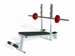 Strength weight bench 3d preview