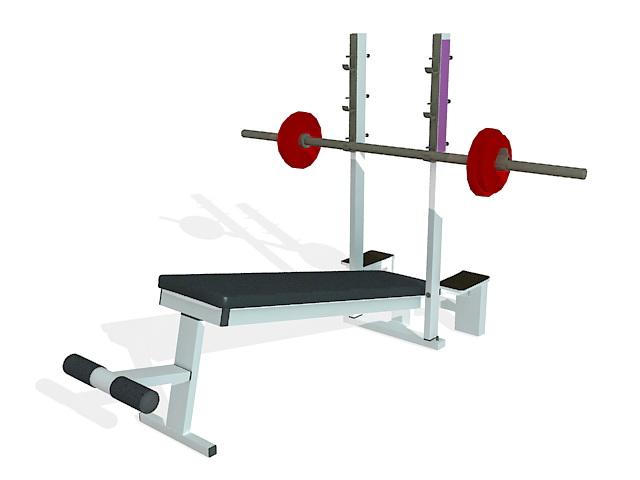 Strength weight bench 3d rendering