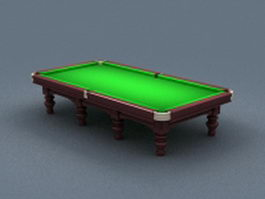Antique snooker table 3d preview