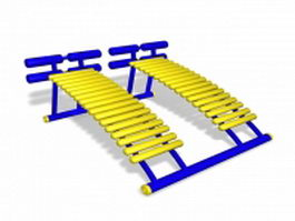 Playground sit-up equipment 3d preview