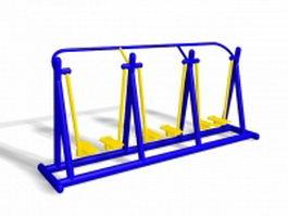 Playground air walker equipment 3d preview