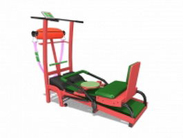 Commercial gym equipment 3d preview