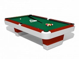 Billiards pool table 3d preview