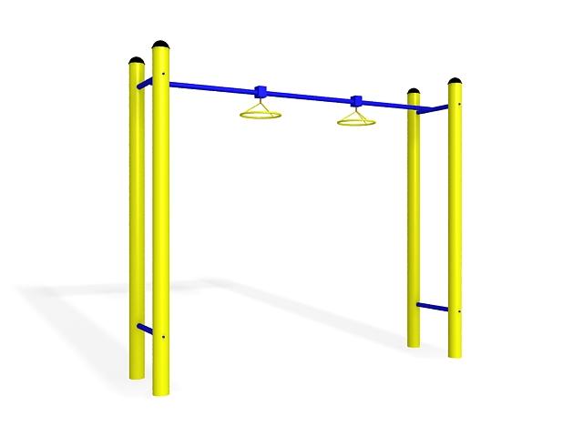 Playground exercise equipment 3d rendering
