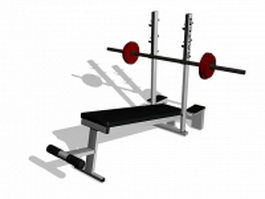 Weight bench set 3d preview