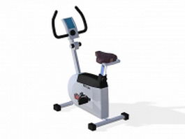 Stationary bicycle exercise machine 3d preview