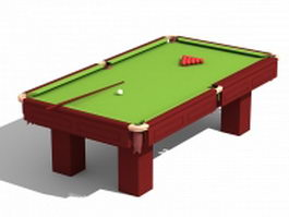 Billiards table equipment 3d preview