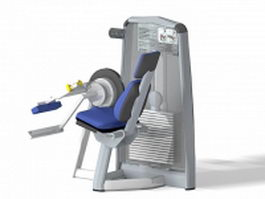 Leg extension exercise machine 3d preview