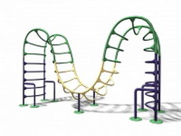 Outdoor playground climbing equipment 3d preview