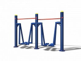 Outdoor walking exercise equipment 3d preview