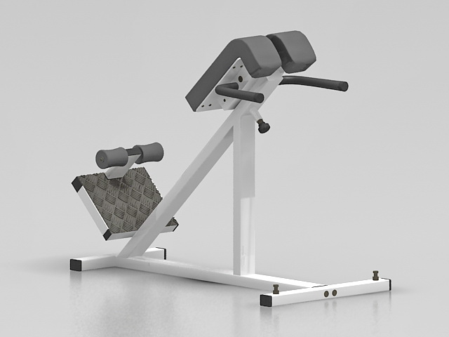 Bodybuilding fitness equipment 3d rendering