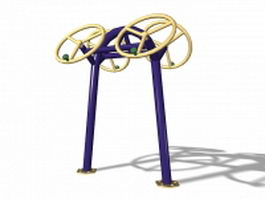 Arm wheel fitness equipment 3d preview