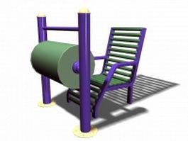Senior playground equipment 3d model preview